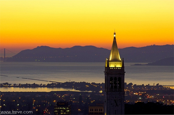 Treve Johnson, Architectural Photographer - Berkeley, Campanile, Dusk, University