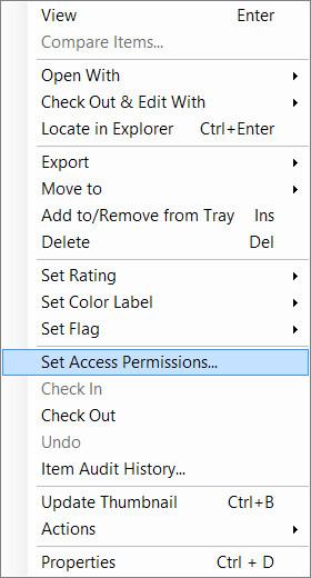 Set Access Permissions