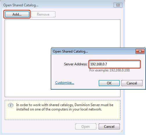 Open Shared Network Based Catalog