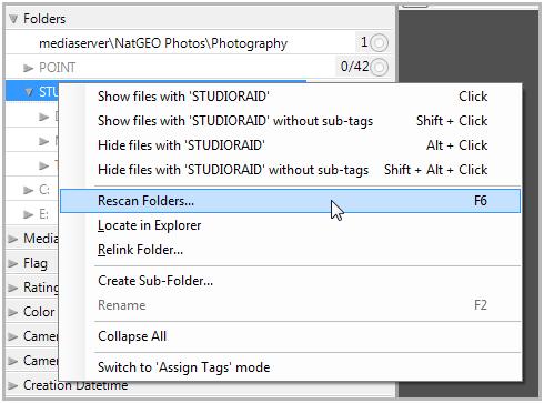 Rescan Folders