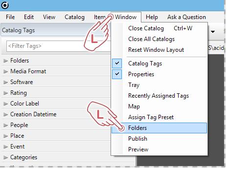 Launching the Folders Panel
